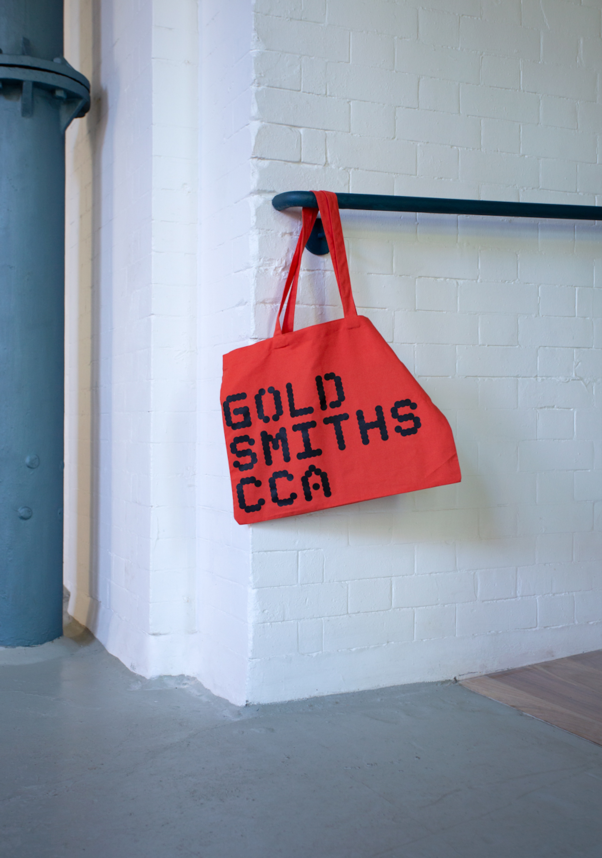 Goldsmiths CCA tote bag designed by Kellenberger White