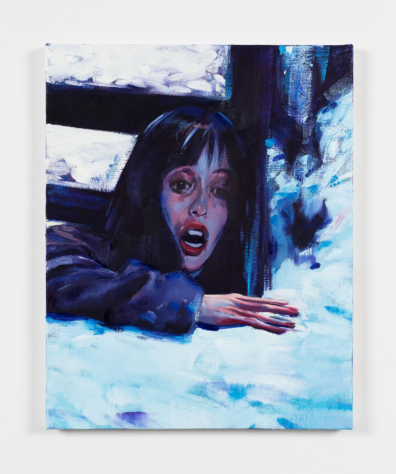 Sam McKinniss, Wendy, 2016. Oil and acrylic on canvas, 51 x 41 cm © Sam McKinniss, courtesy team (gallery, inc.)