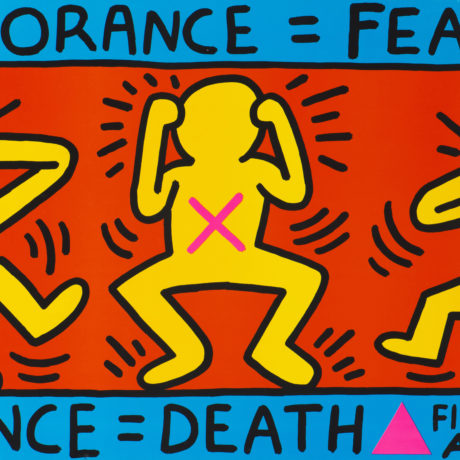 Keith Haring, Ignorance = Fear, 1989
