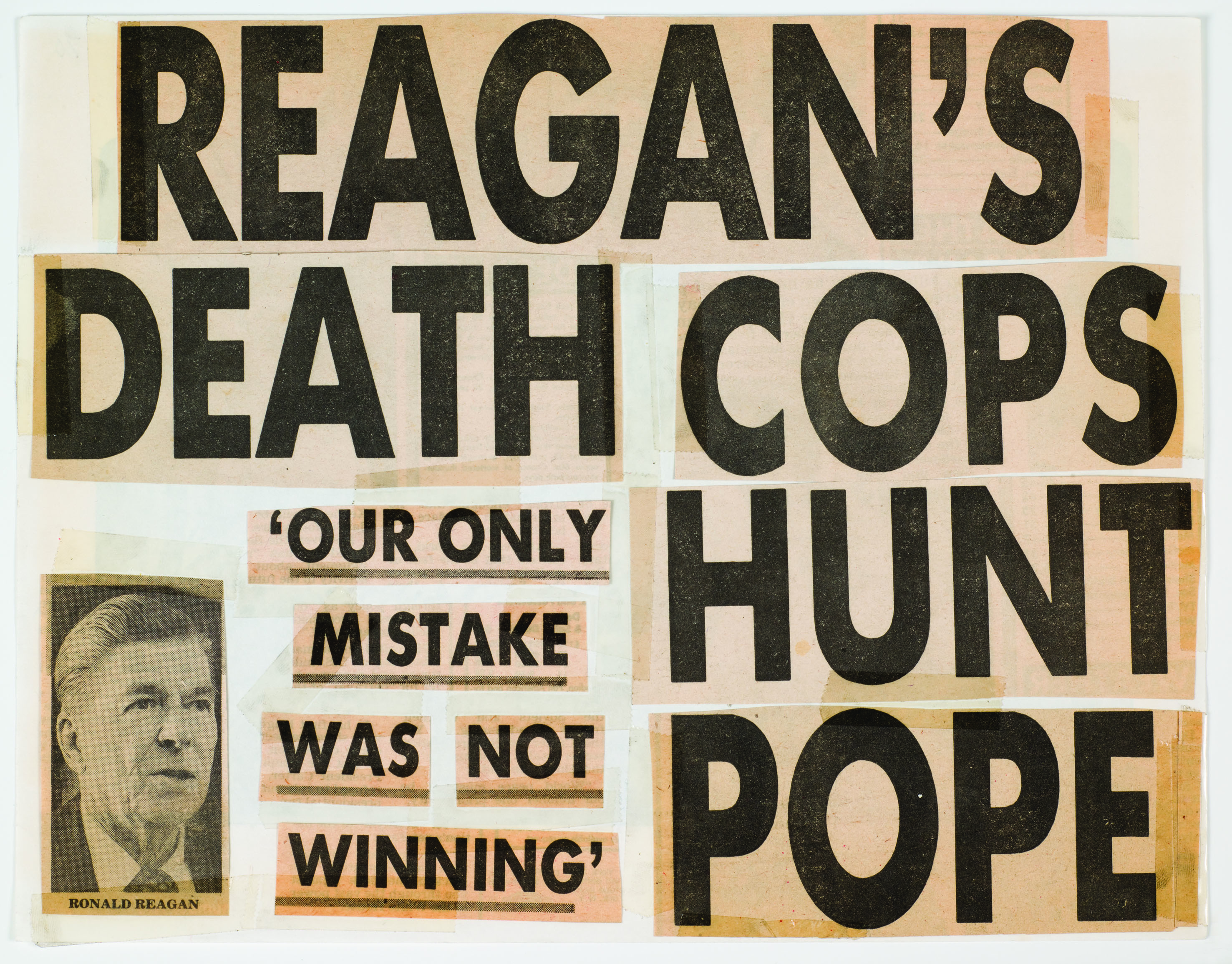 Keith Haring, Reagan's Death Cops Hunt Pope, 1980