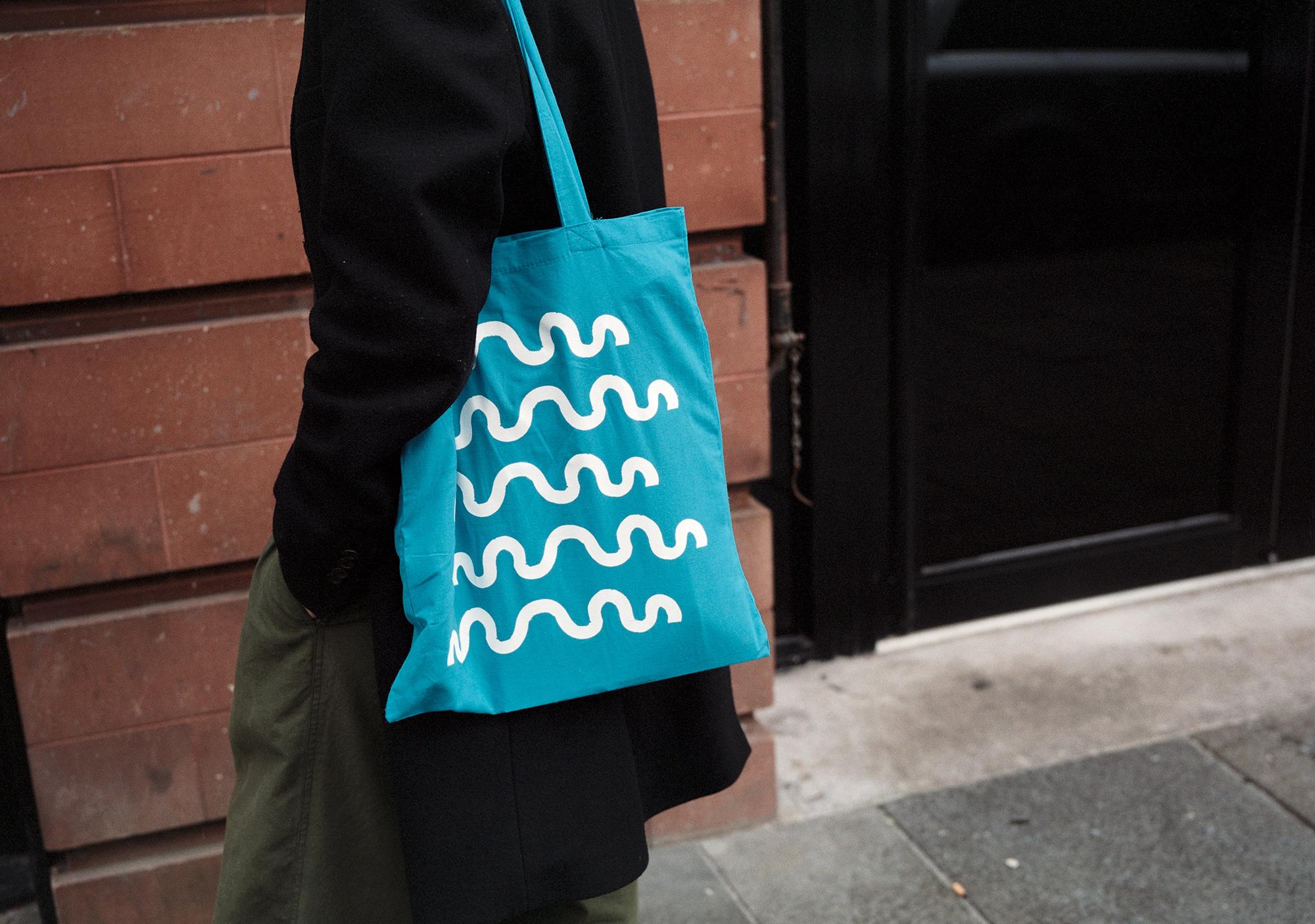 Kellenberger White's tote bag design for Glasgow International