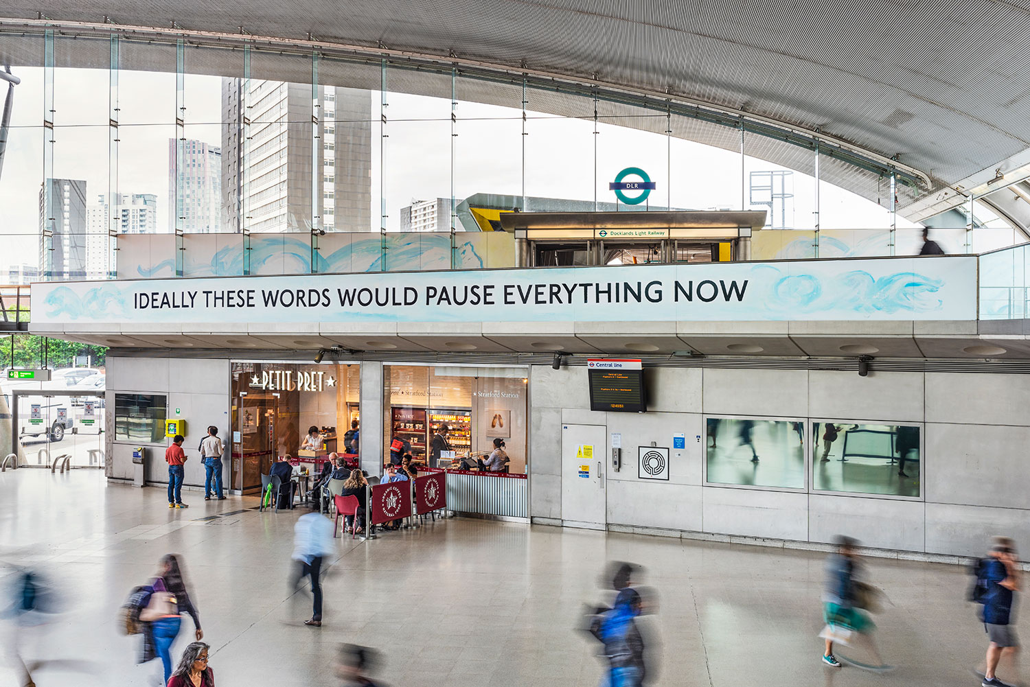 Laure Prouvost, You are deeper than what you think, Stratford station, 2019. Commissioned by Art on the Underground. Photo Thierry Bal