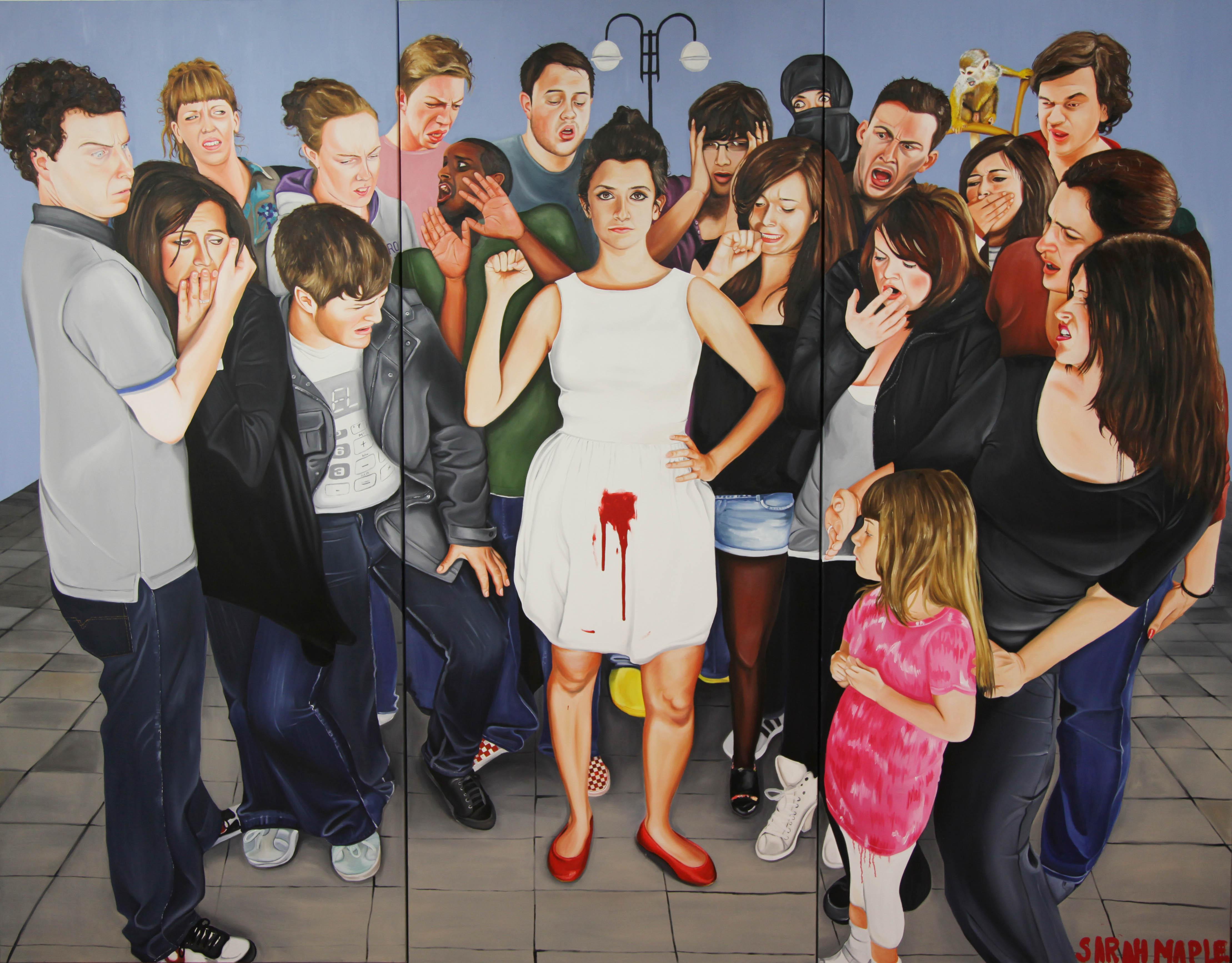 Sarah Maple, Menstruate with Pride, 2010-11. Courtesy the artist