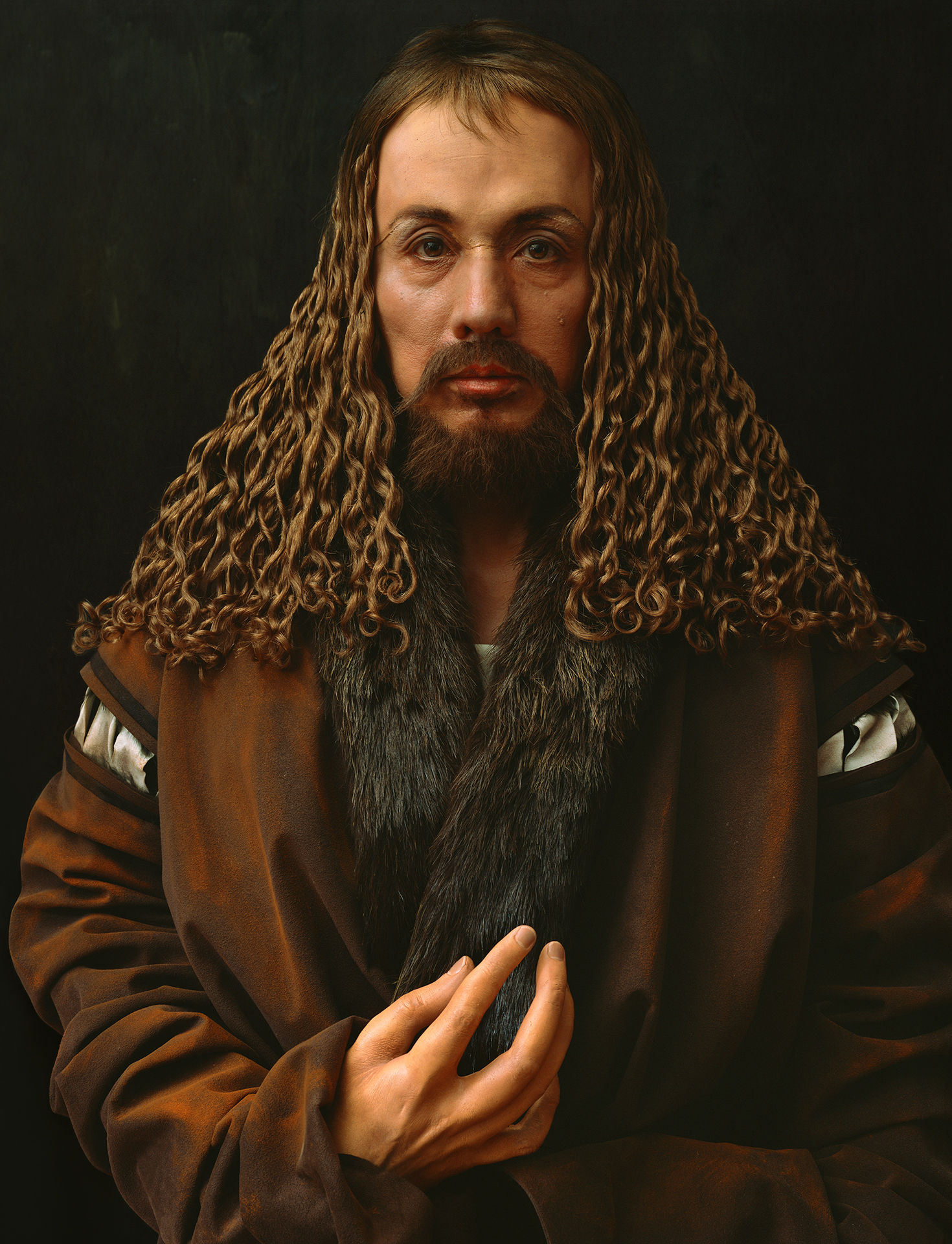 Self-Portraits through Art History (Dürer's Hand is Another Face), 2016. Courtesy of the artist and Luhring Augustine, New York. © Yasumasa Morimura