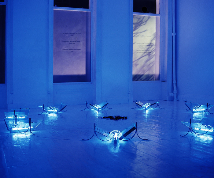 Transmission 1990, Installation at Milch Gallery, 1990