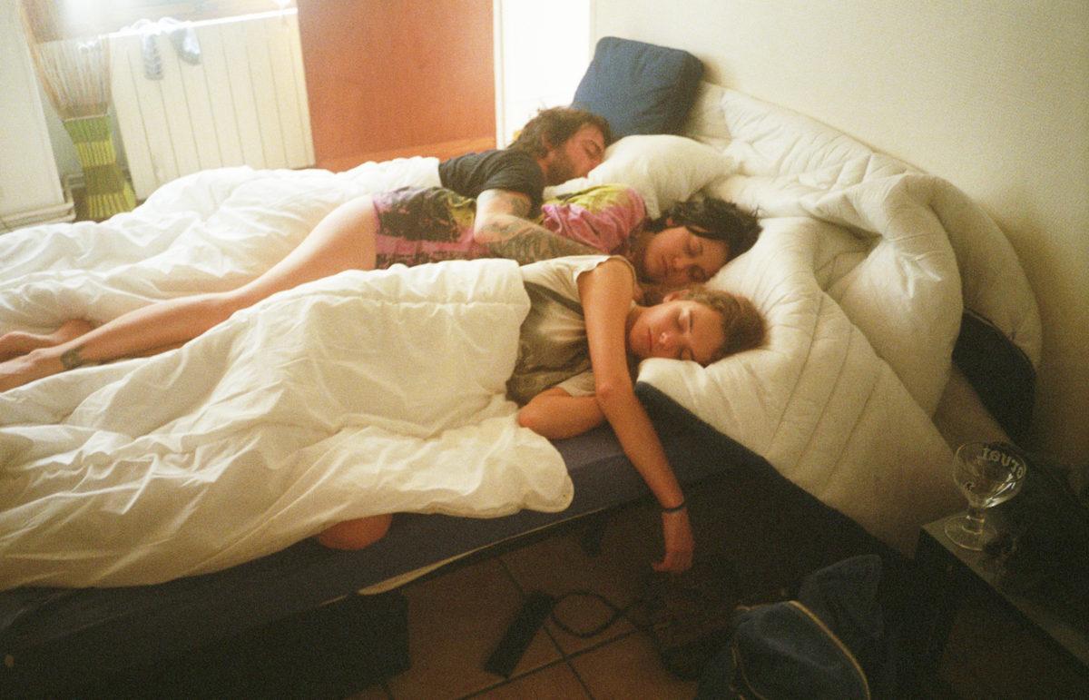 Chad Moore, Clayton, Olivia, Imogen (Paris, Bed), 2014. agnès b. collection