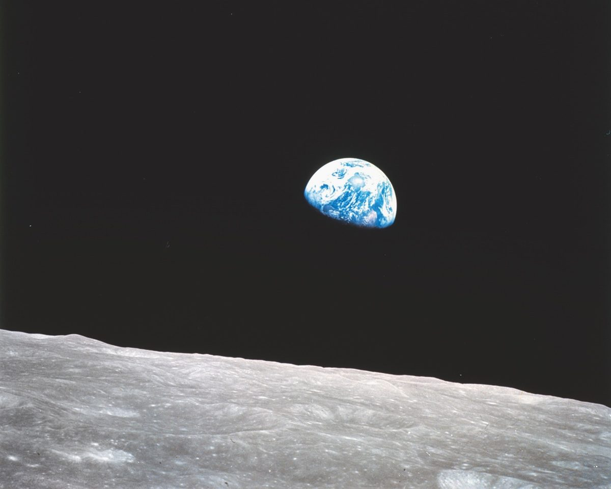 William Anders, Earthrise, photographed from Apollo 8, 24 December 1968. Picture credit: NASA