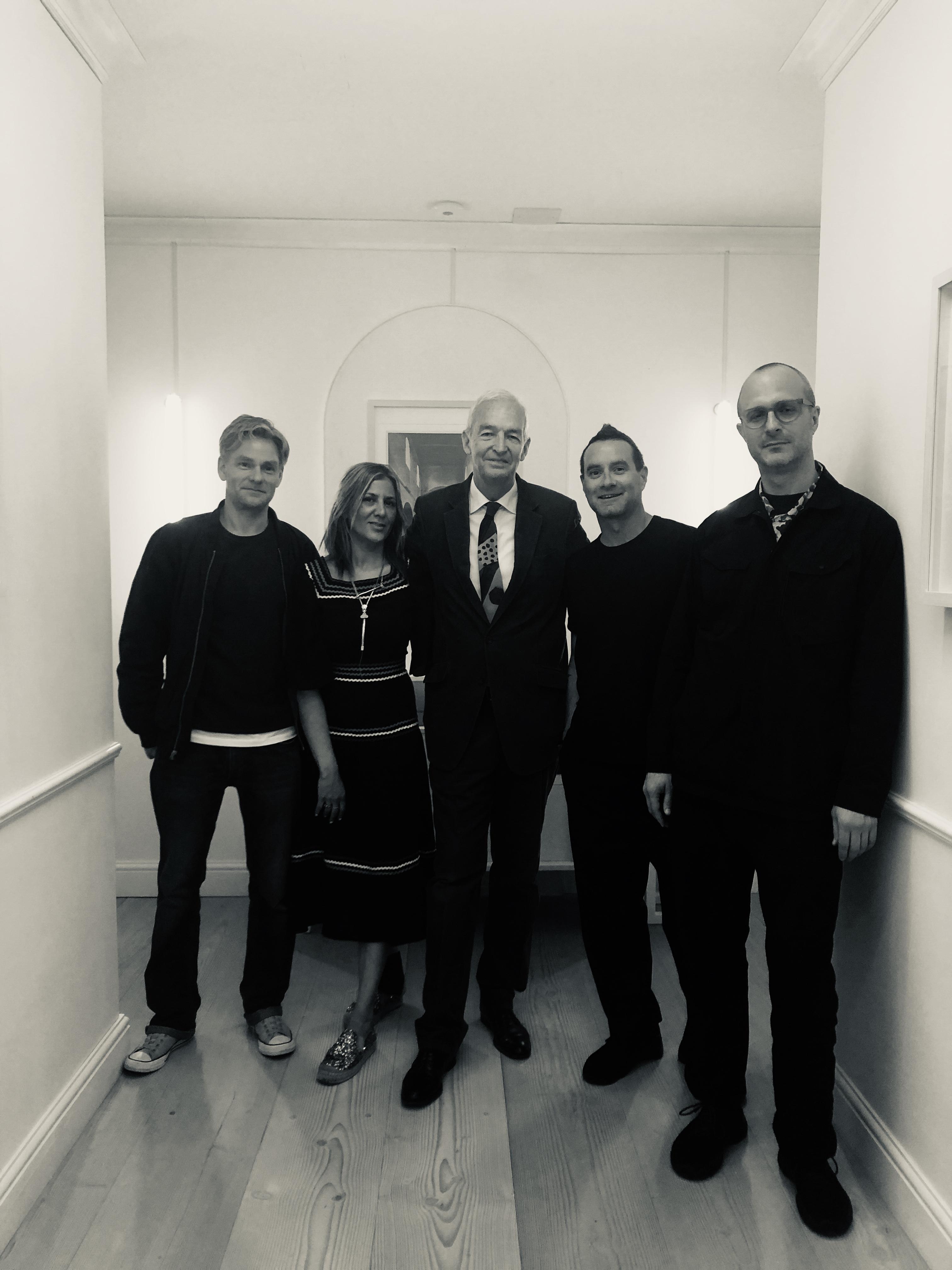 Beyond The Road (l-r) Colin Nightingale, Azzi Glasser, James Lavelle, Stephen Dobbie with Jon Snow