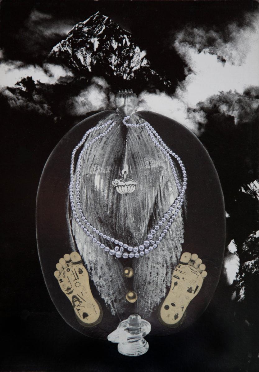 Penny Slinger, Coco de Mer, 1976 Photo collage on board