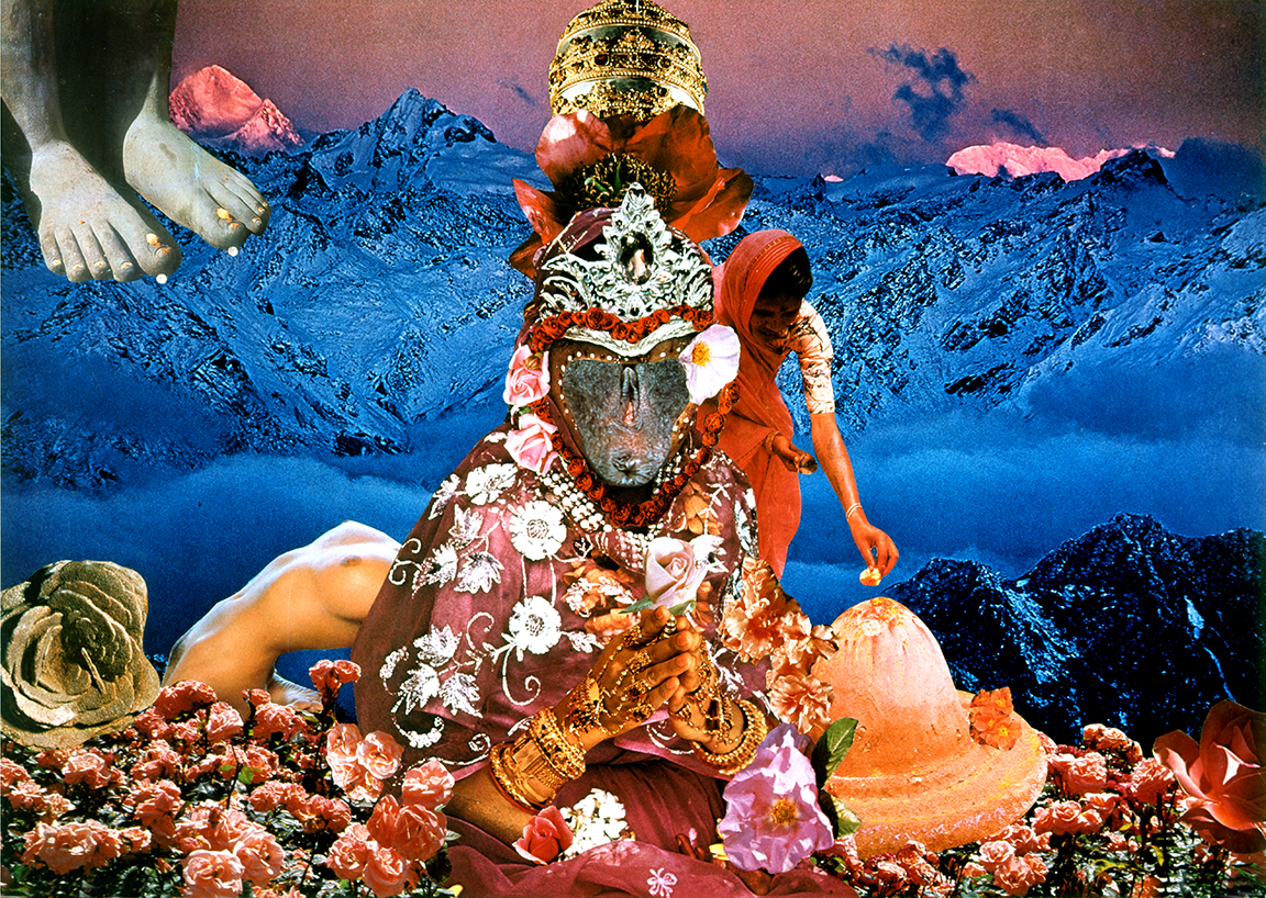 Penny Slinger, Offerings at Twilight, 1976 Photo collage on board