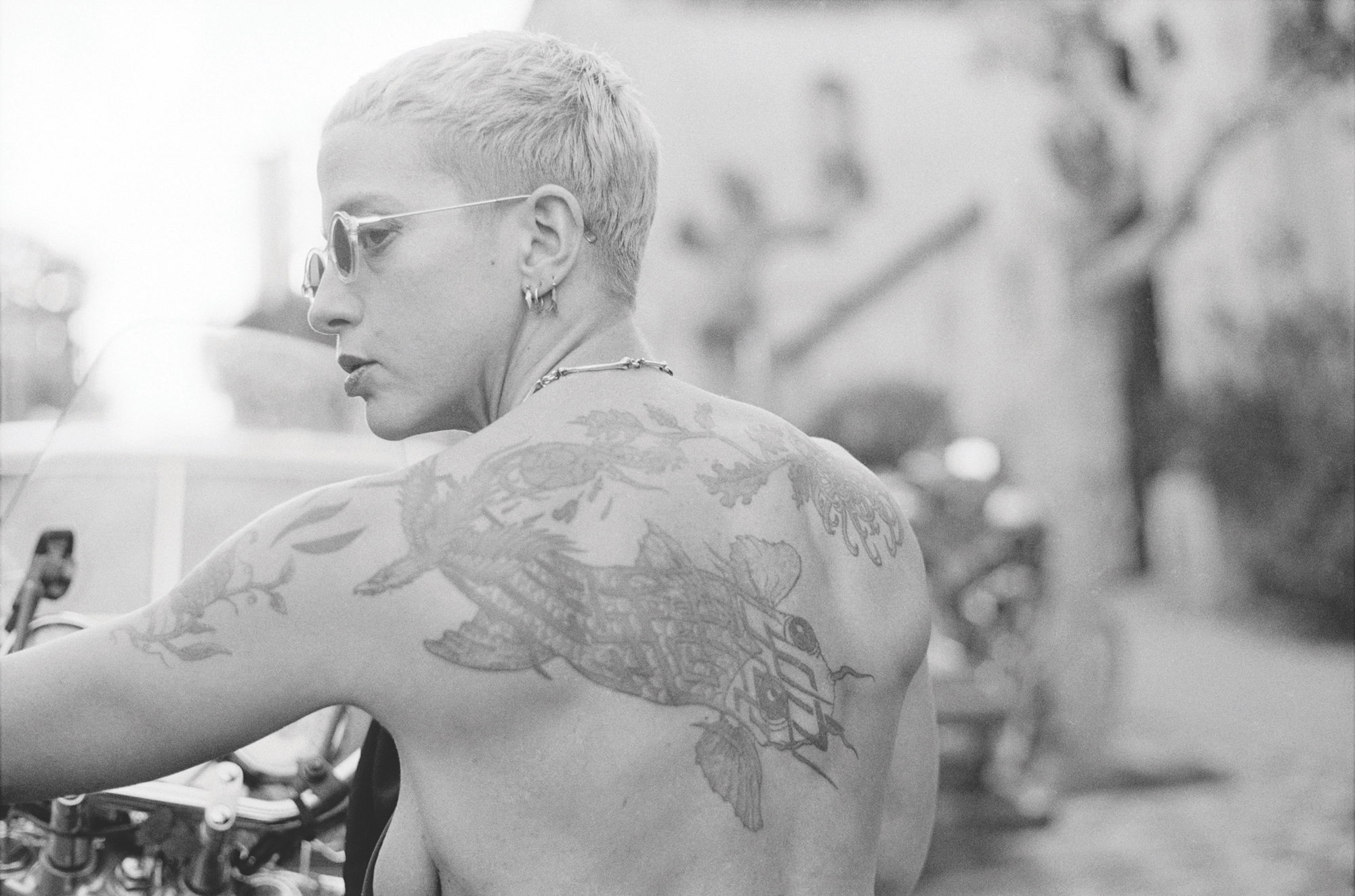 Portrait of Kathy Acker, San Francisco, 1991. Photo by Kathy Brew
