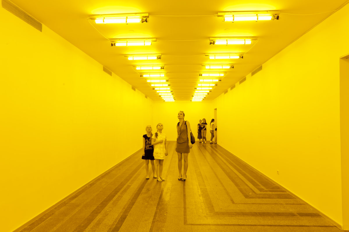 Olafur Eliasson, Room for One Colour, 1997. Installation view at PinchukArtCentre, Kiev, 2011Photo: Dmitry Baranov Courtesy of the artist; neugerriemschneider, Berlin; Tanya Bonakdar Gallery, New York / Los Angeles © 1997 Olafur Eliasson