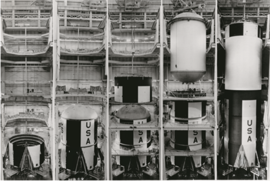 Assembly of Saturn V S-IC first stage, Michoud Assembly Facility, New Orleans, Louisiana, 1960s. Picture credit: NASA