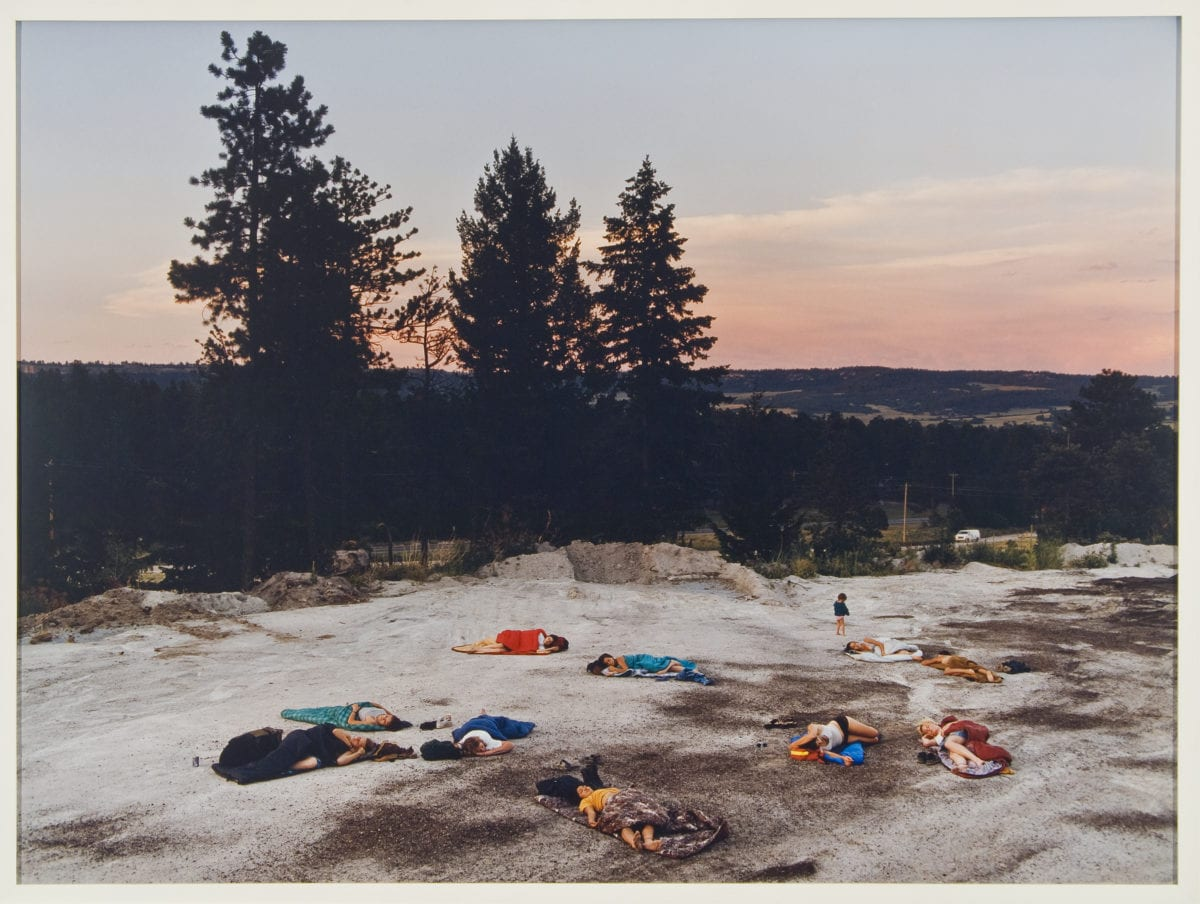 Justine Kurland, Slumber Party, 2000; Chromogenic color print, 30 x 40 in.; National Museum of Women in the Arts, Gift of Heather and Tony Podesta Collection; © Justine Kurland; Image courtesy of the artist and Mitchell-Innes & Nash, New York