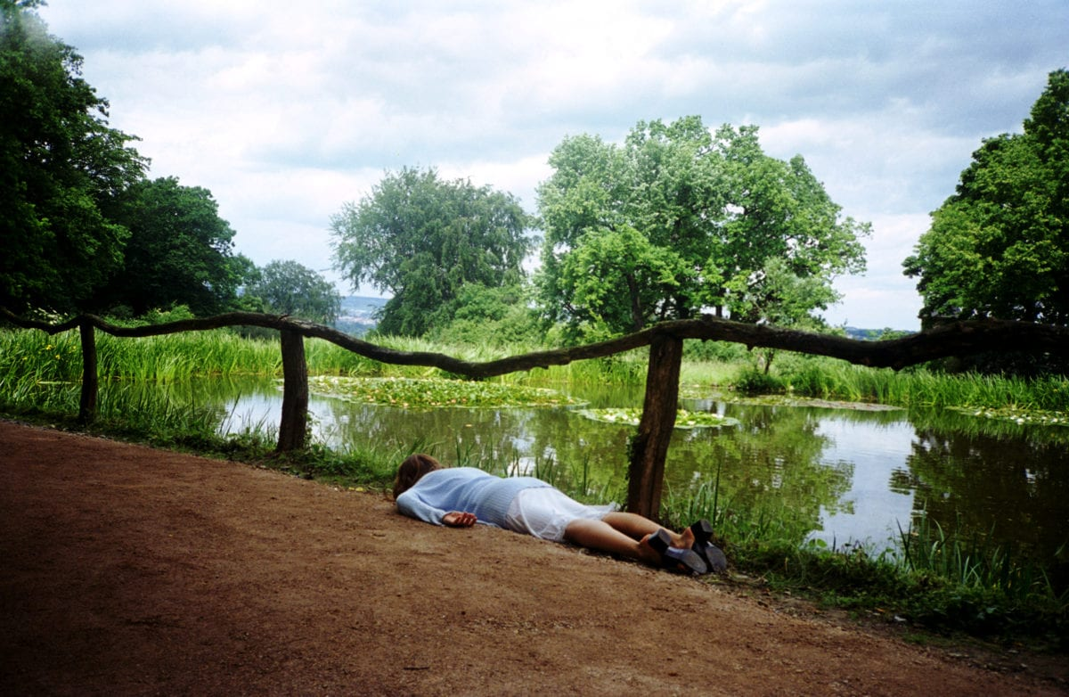 """Janaina Tschäpe, Weimar, from the series """"100 Little Deaths,"""" 1998; Chromogenic color print, 31 x 47 in.; National Museum of Women in the Arts, Gift of Heather and Tony Podesta Collection; © Janaina Tschäpe; Image courtesy of Janaina Tschäpe studio"""