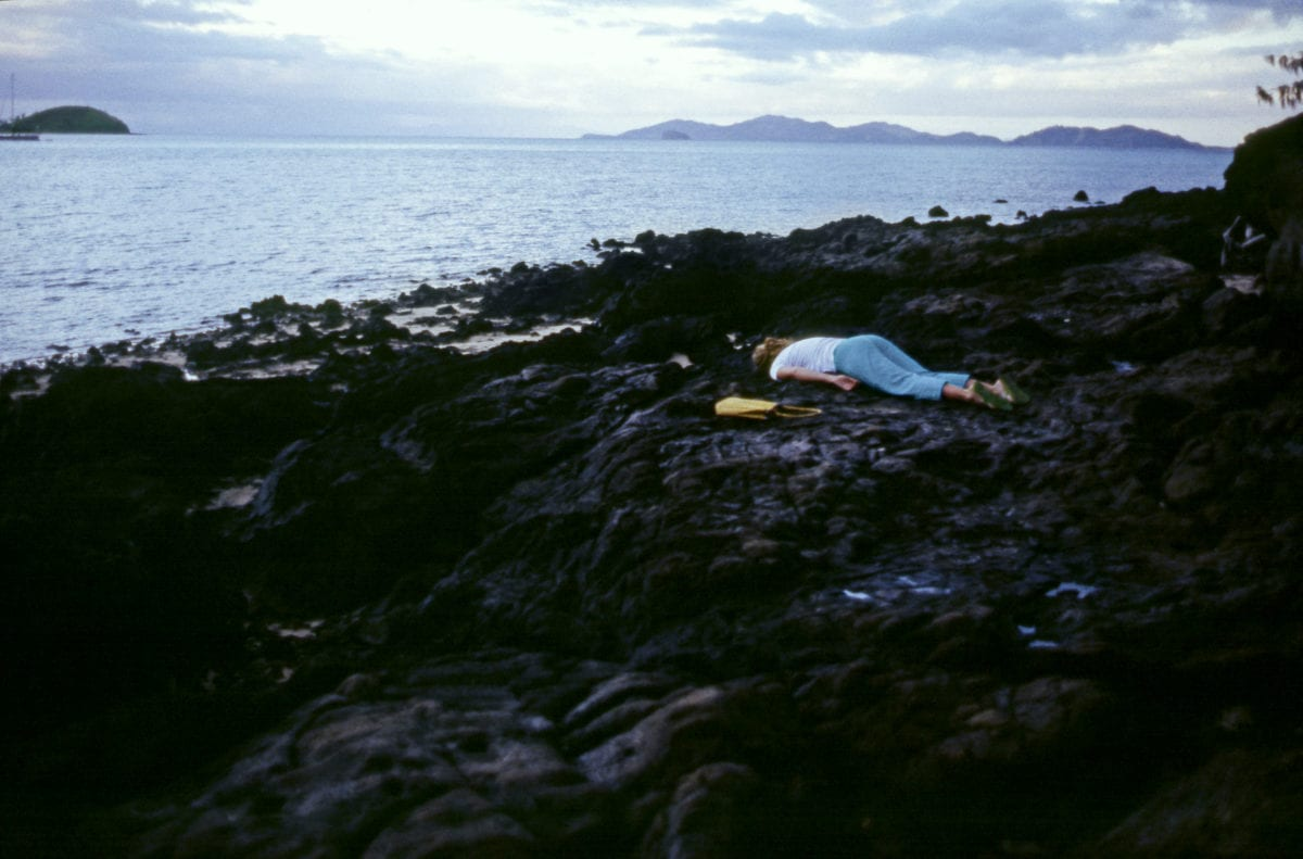 """Janaina Tschäpe, Fiji, from the series """"100 Little Deaths,"""" 2002; Chromogenic color print, 31 x 47 in.; National Museum of Women in the Arts, Gift of Heather and Tony Podesta Collection; © Janaina Tschäpe; Image courtesy of Janaina Tschäpe studio"""