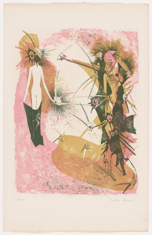 Dorothea tanning lithograph
