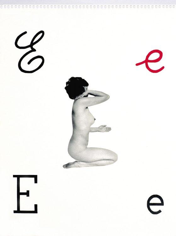 Alfabetiere Murale (Mural Alphabets), Lettera E (E letter), 1976