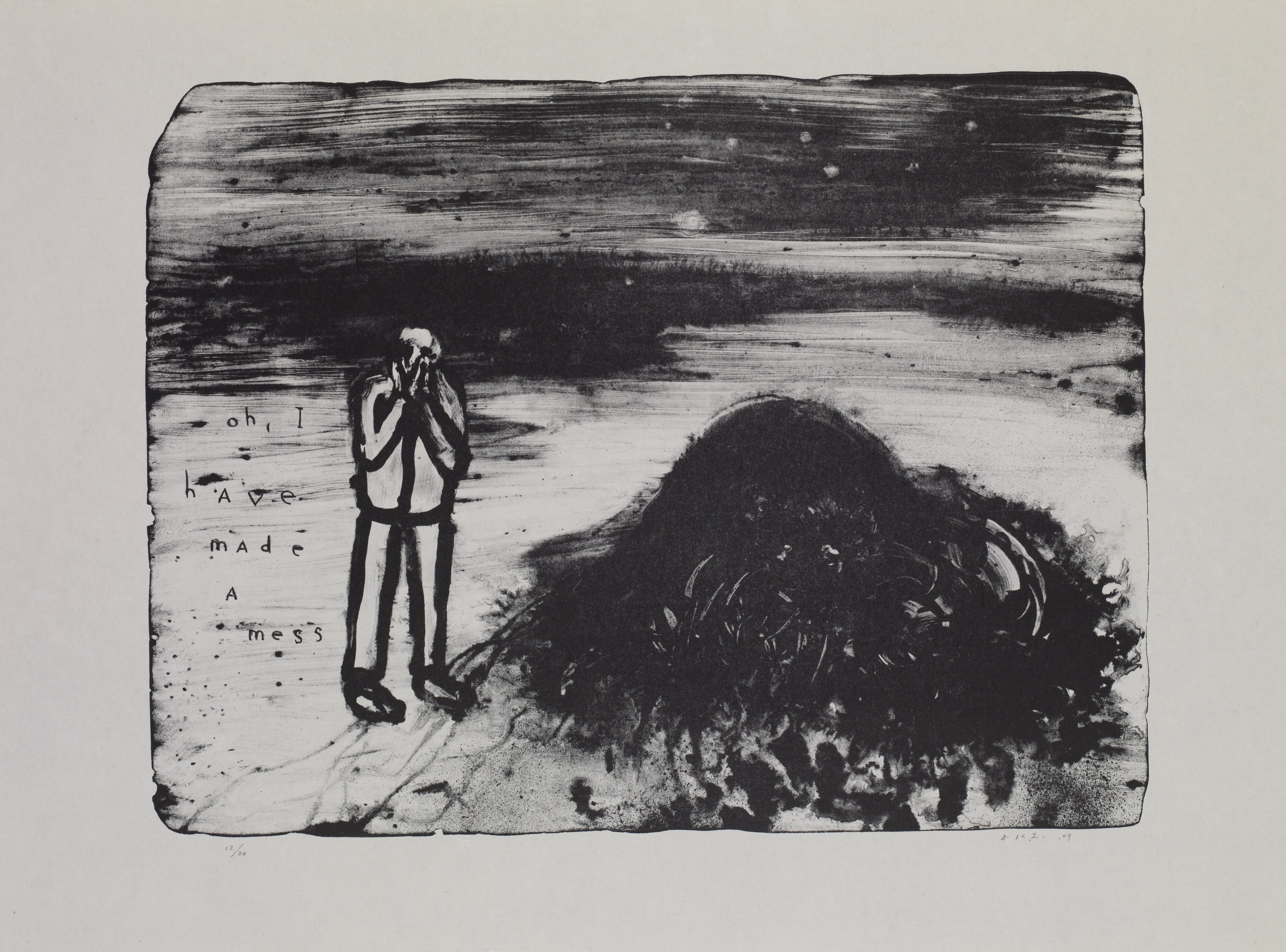 David Lynch, Oh I Have Made a Mess, 2009, Courtesy of David Lynch and Item Editions