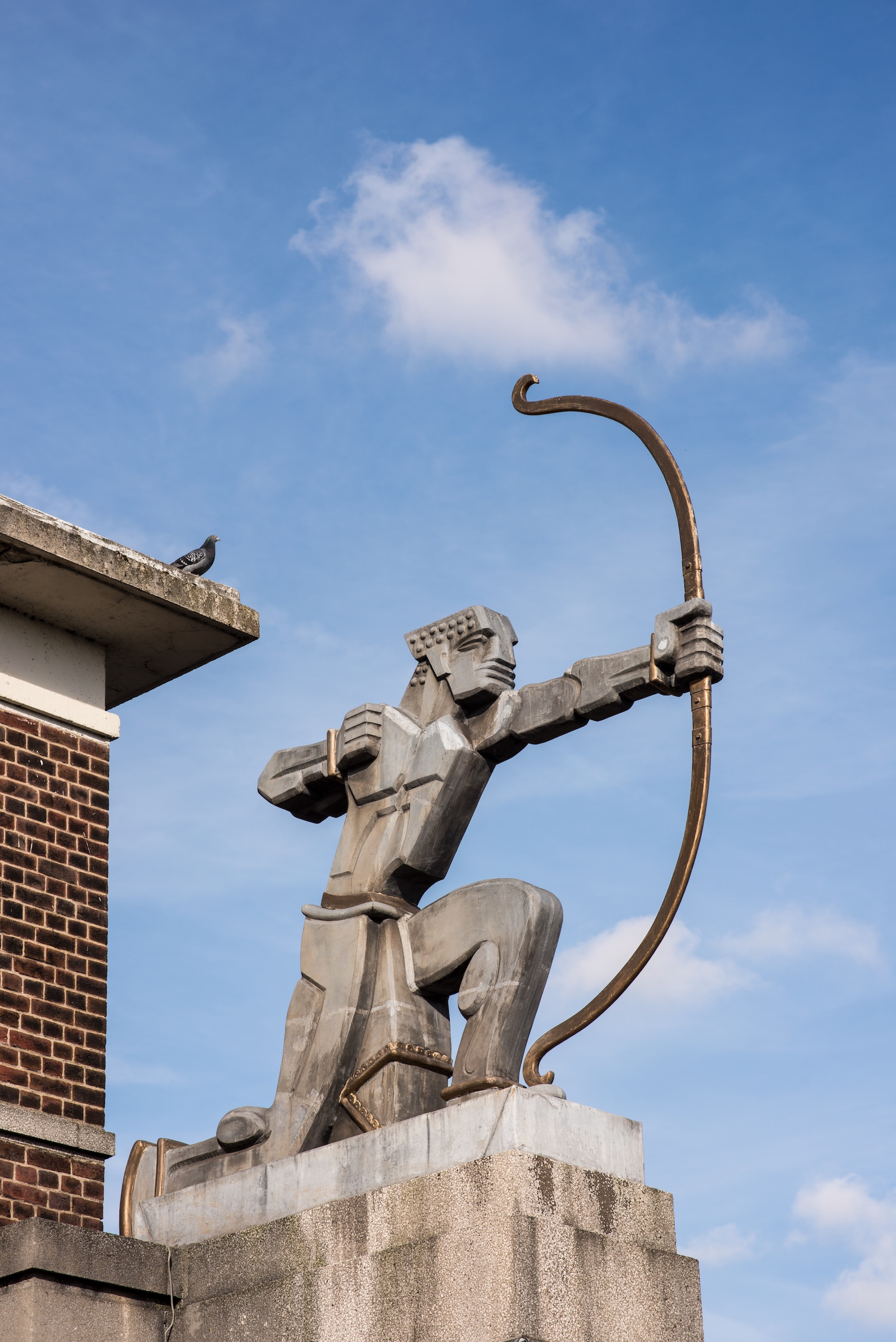 Eric Aumonier statue at East Finchley
