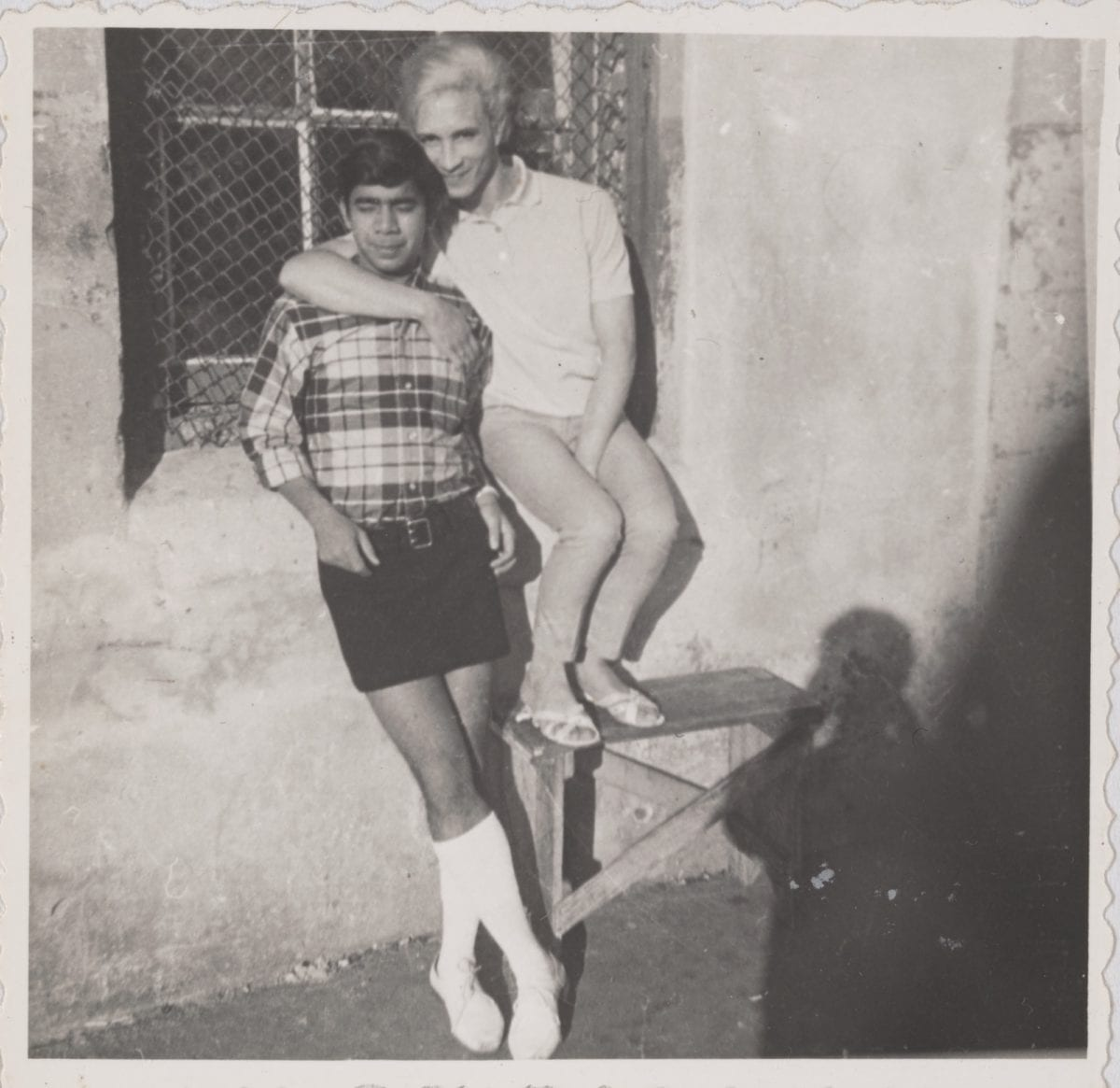 Brian and Kewpie (in their 20s) in Rutgers street, circa 1955 to 1980
