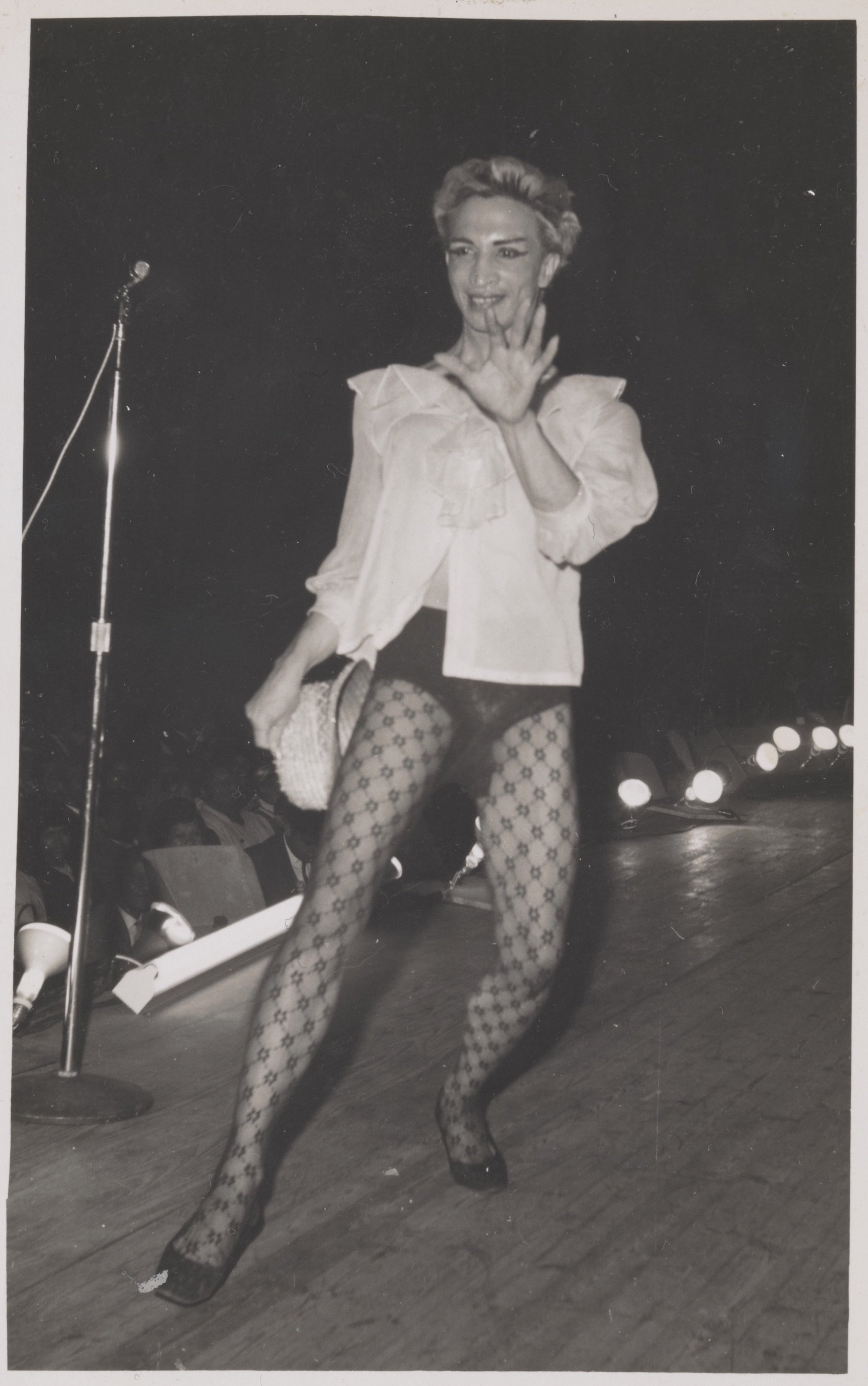 Kewpie on Stage: Competition (Strip Show) at the Kismet Organised by the Stellenbosch Winery, circa 1950 to 1980