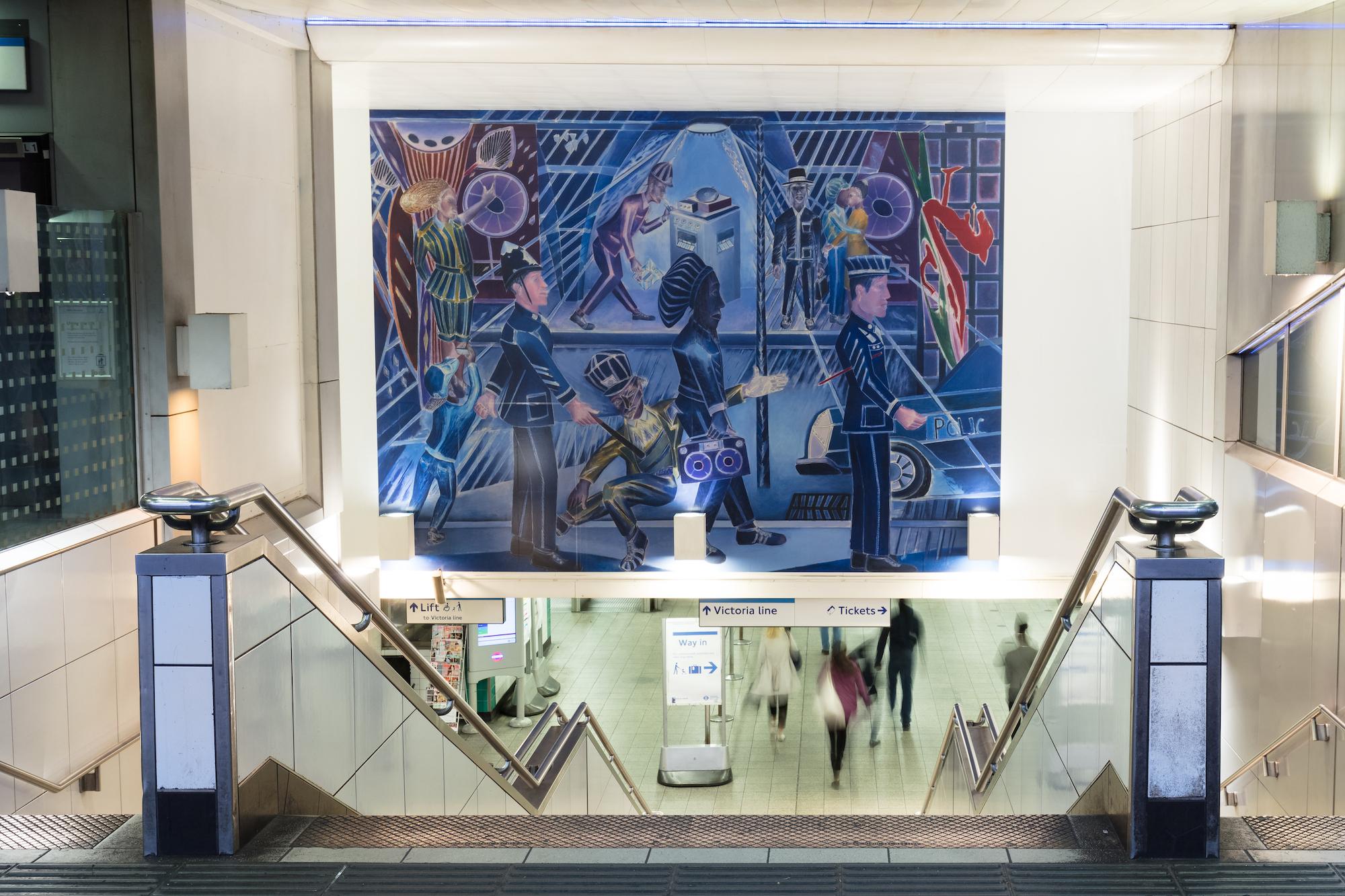 Denzil Forrester, Brixton Blue at Brixton Station