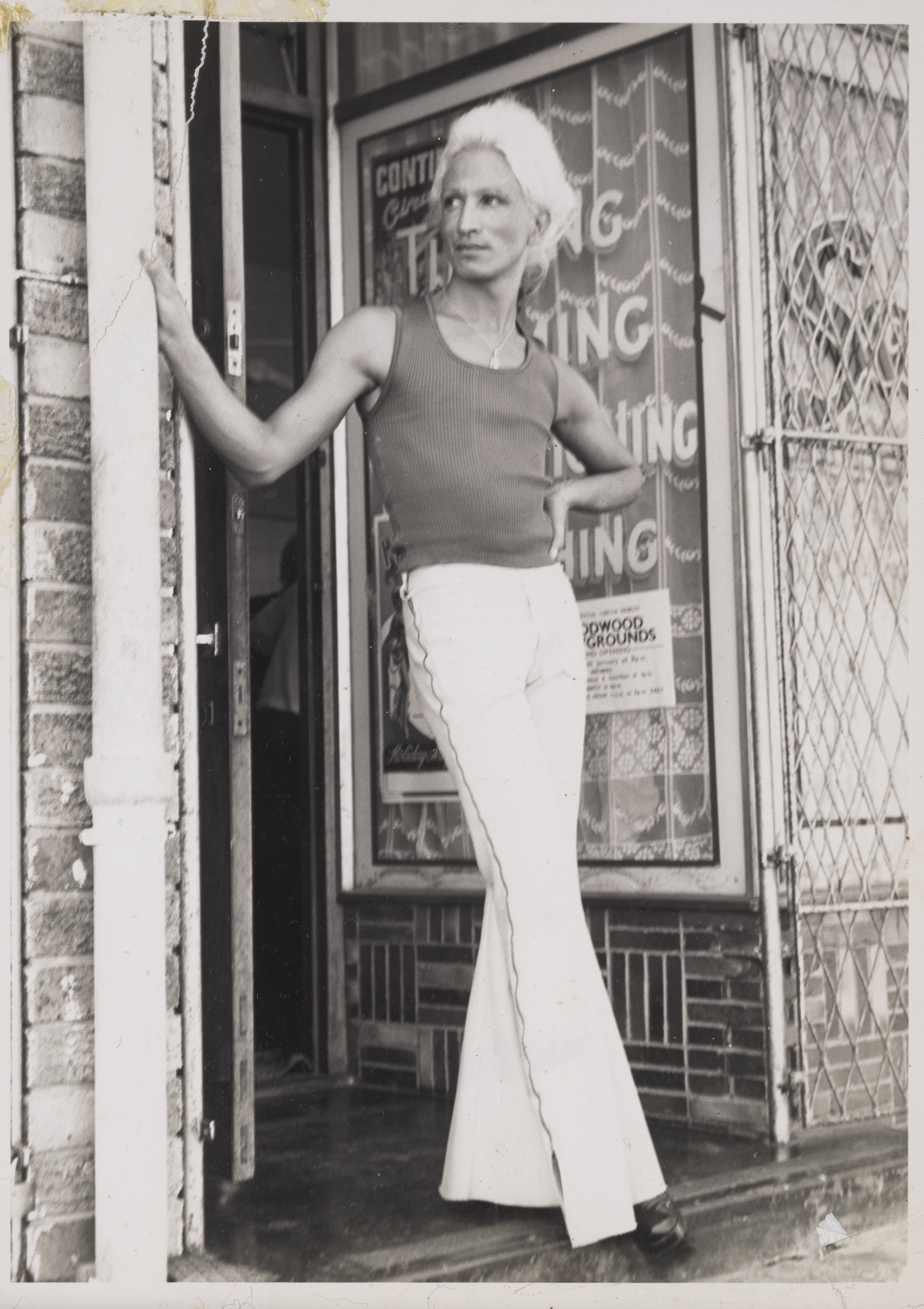 Kewpie Outside of Salon Kewpie, 1970s