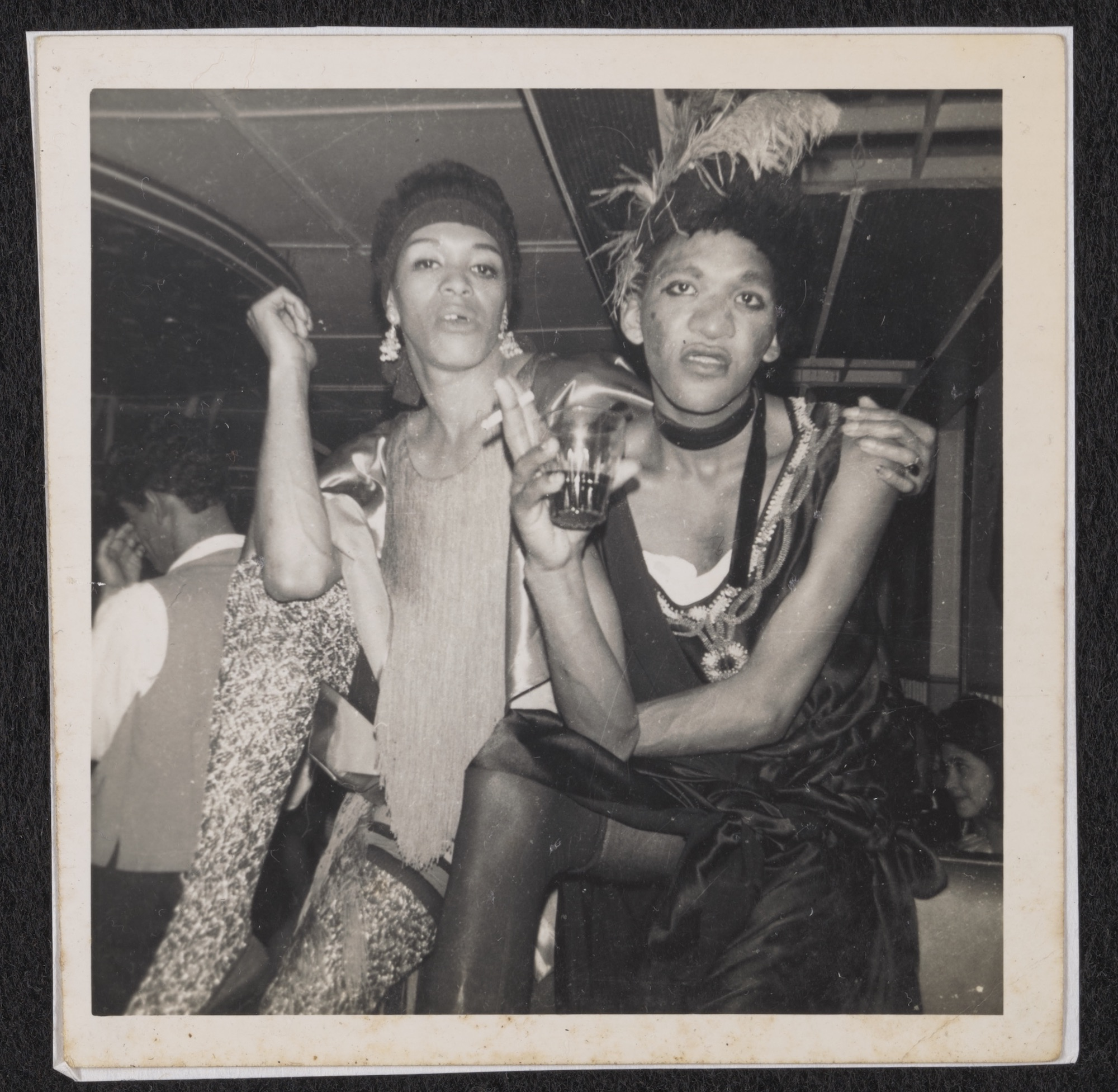 Mitzy and Bassey at the Roaring '20s Night at the Ambassador Club, circa 1950 to 1985