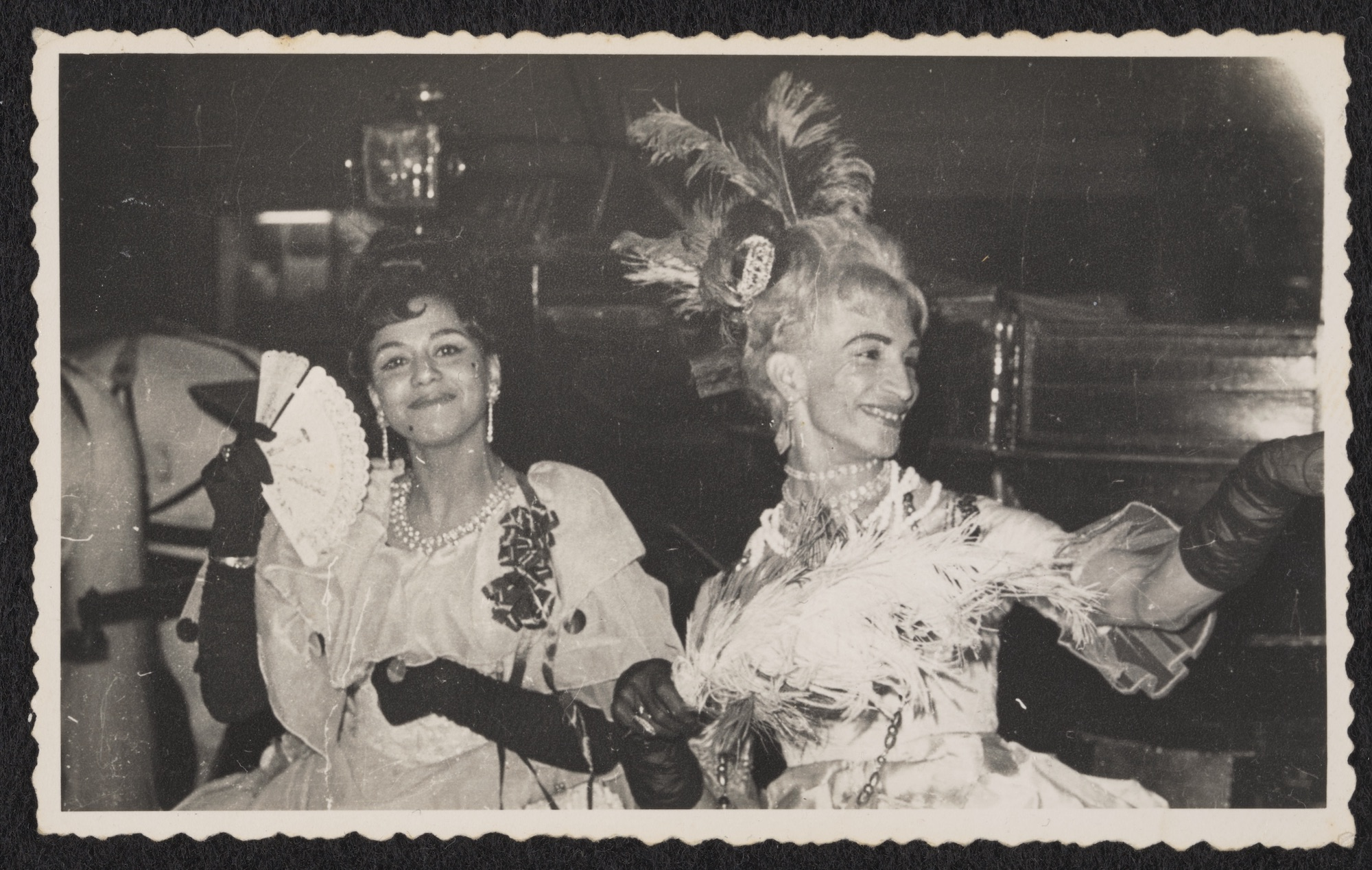 Sodia and Kewpie at the Marie Antoinette Ball at the Ambassador Club, circa 1950 to circa 1985