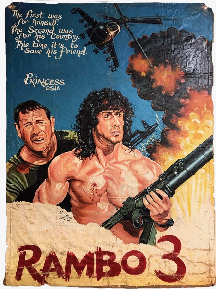 Dan Nyenkumah, Rambo 3, 1996. Courtesy Ernie Wolfe Gallery