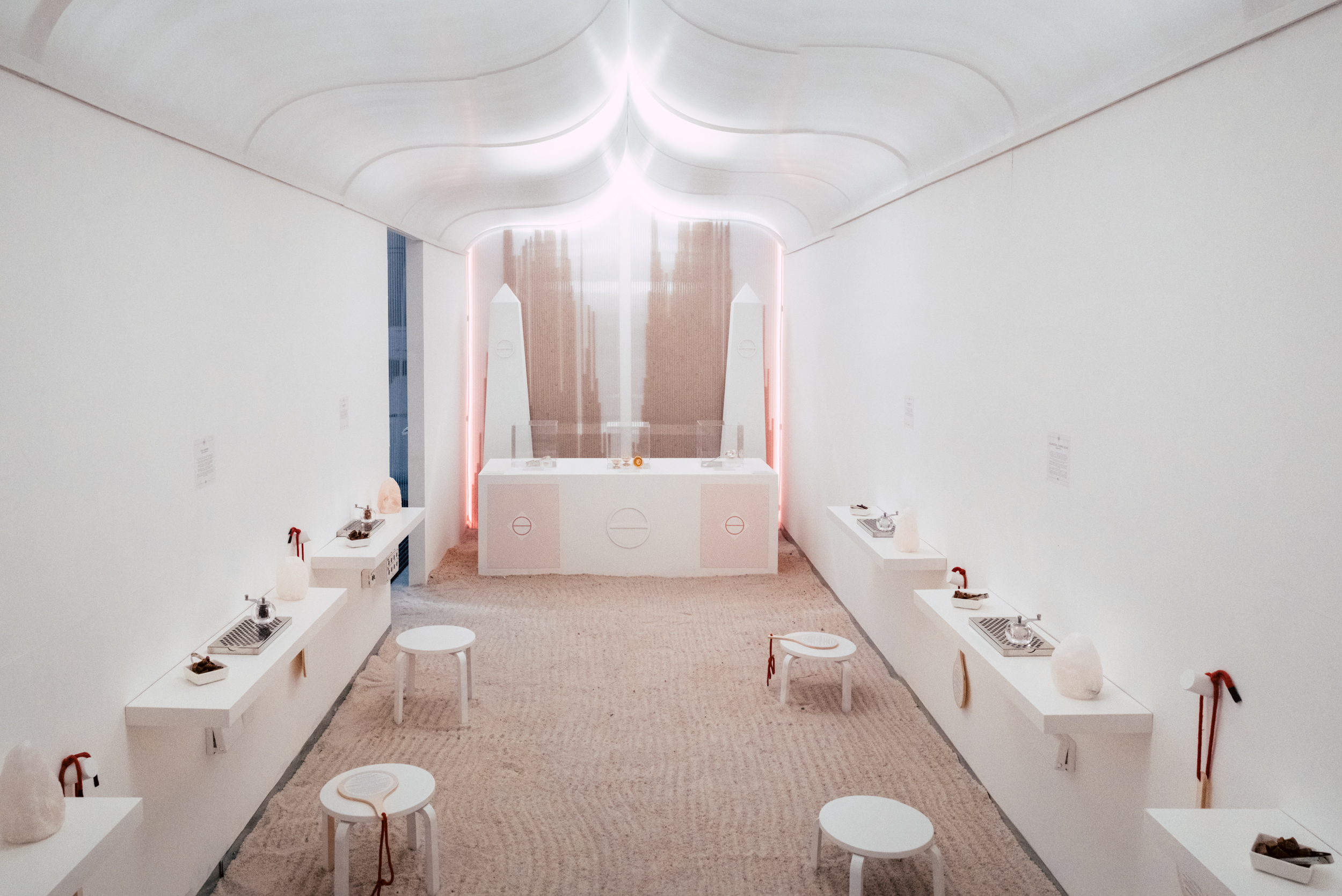Bompas & Parr installation view at Welcome Home: A Speculation on Living Spaces