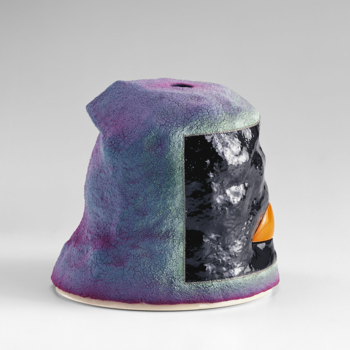 Midnight StrollEarthenware, glaze, underglaze5 x 5 1/4 x 5 1/4 inches1997