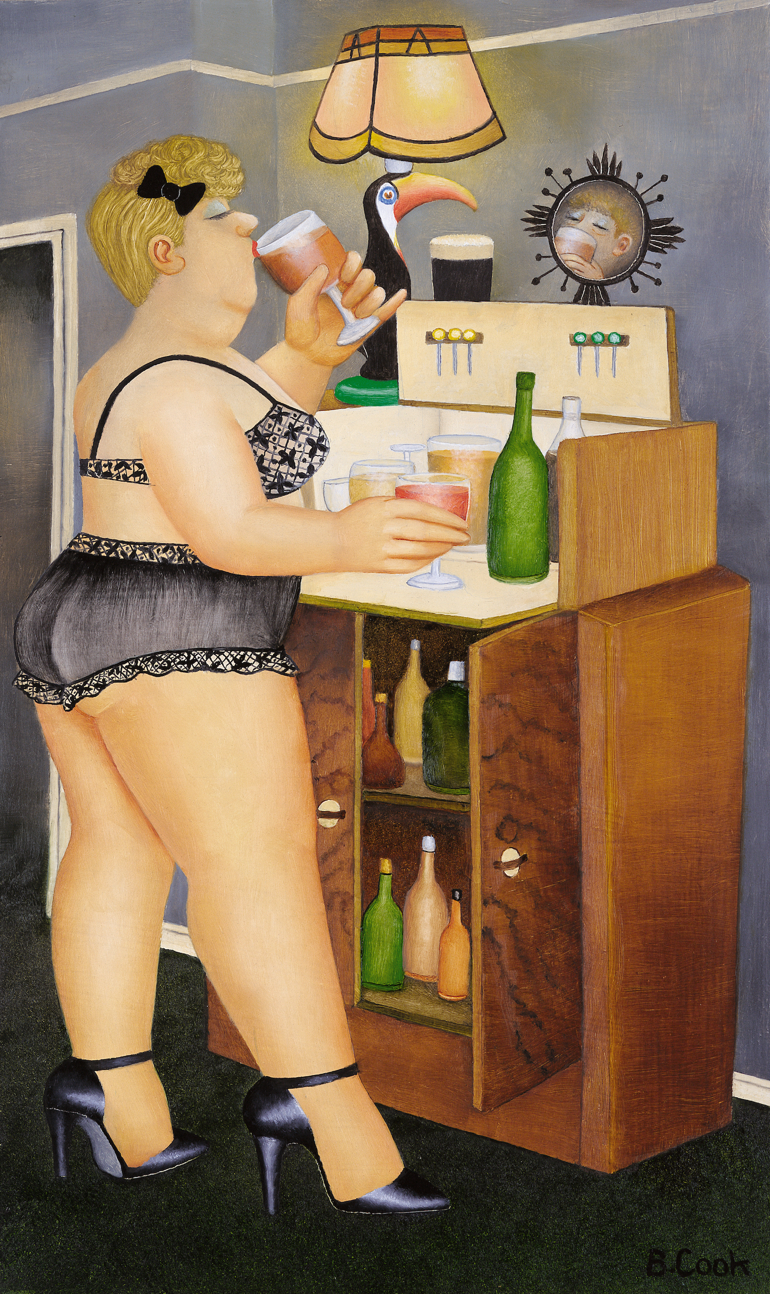 Beryl Cook, Drinkies, Courtesy of Our Beryl Cook