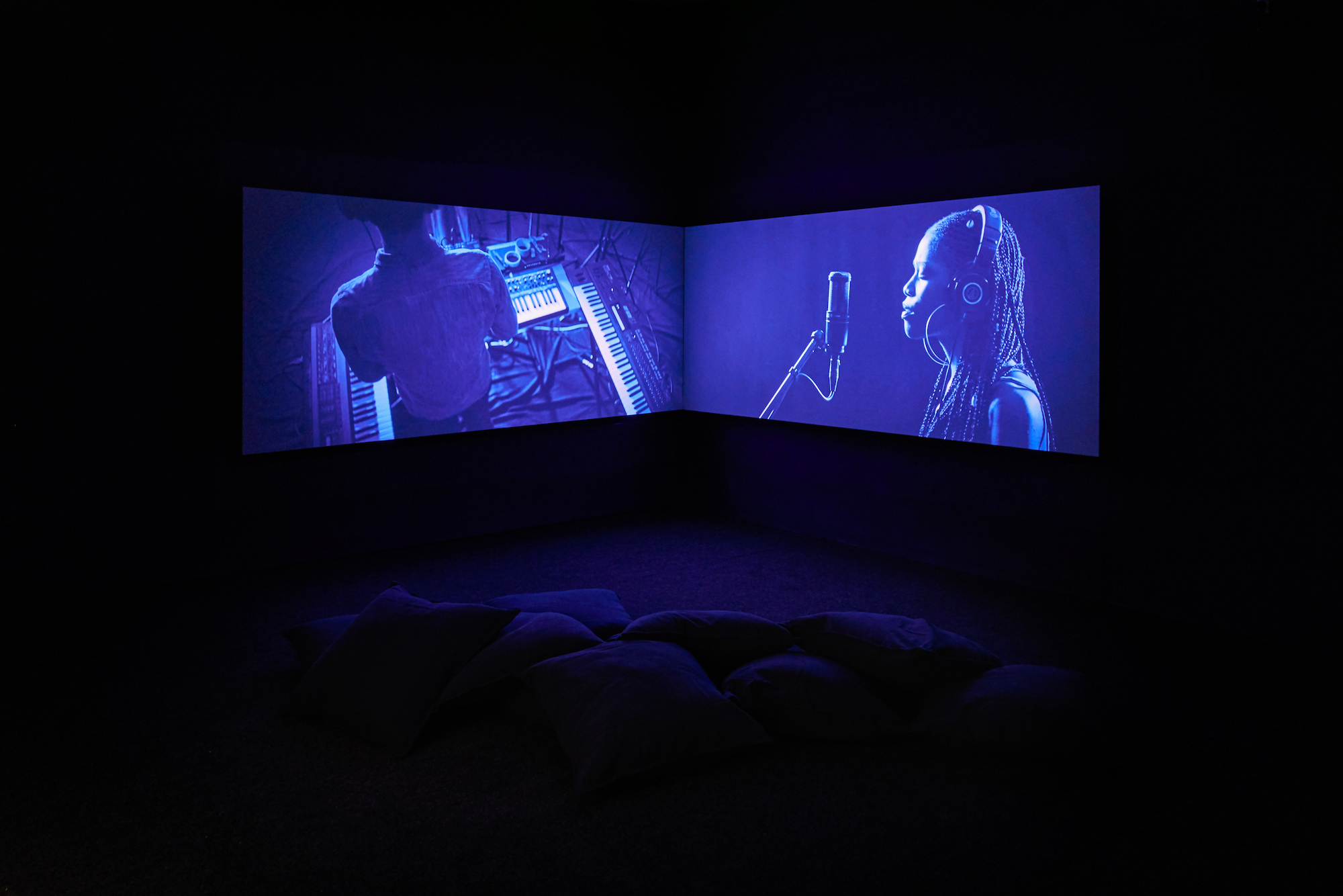 Gabrielle Goliath video installation at Goodman Gallery London, 2019
