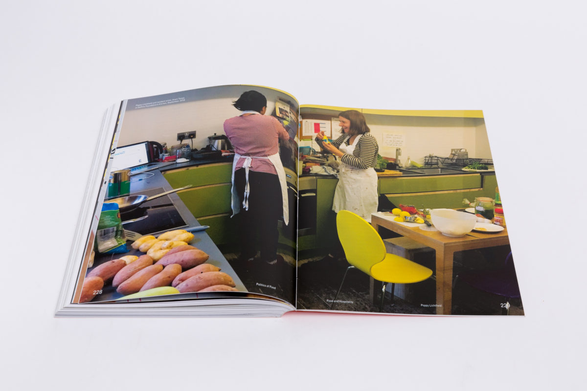 Politics of Food (2019). Edited by Dani Burrows and Aaron Cezar. Co-published by Delfina Foundation and Sternberg Press. Photo Tim Bowditch. Courtesy Delfina Foundation. LR - 96
