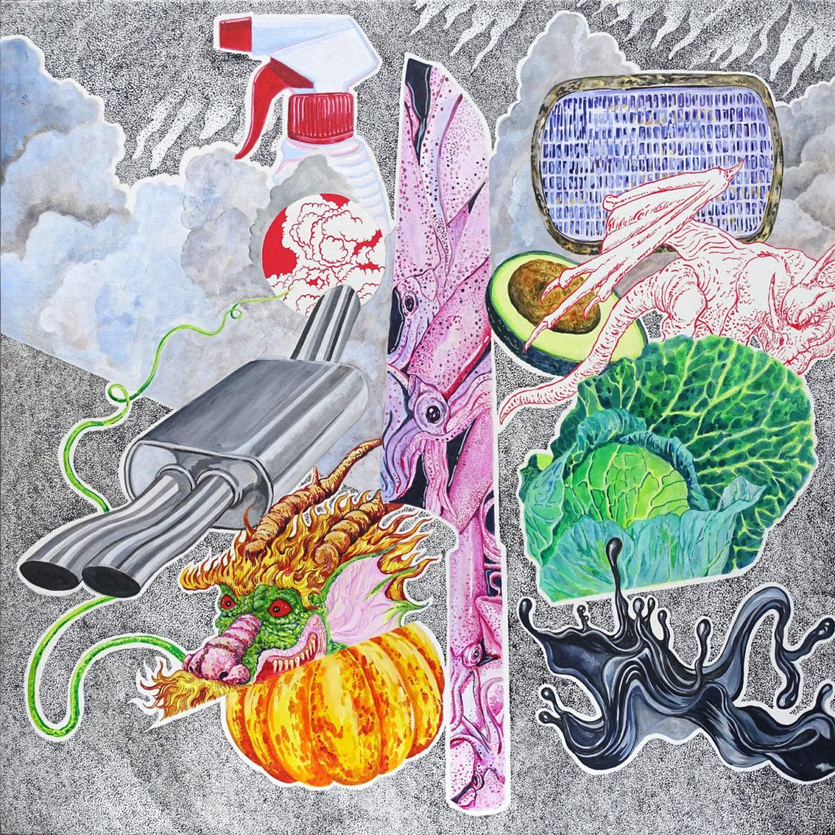 Hasanul-Isyraf-Idris-Wing-Condensor-2019-Acrylic-on-canvas-61-x-61cm