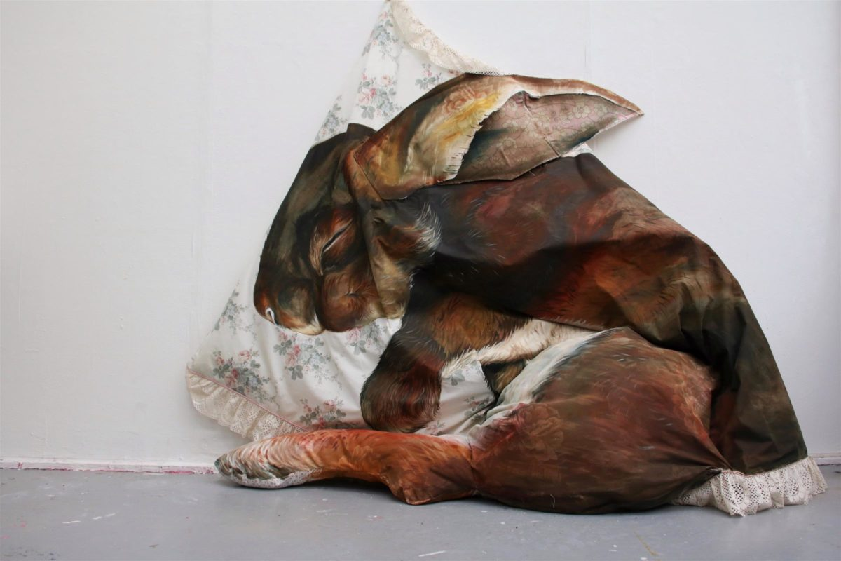 Chloe Johnson, The Rabbit and Her Blanket, 2019