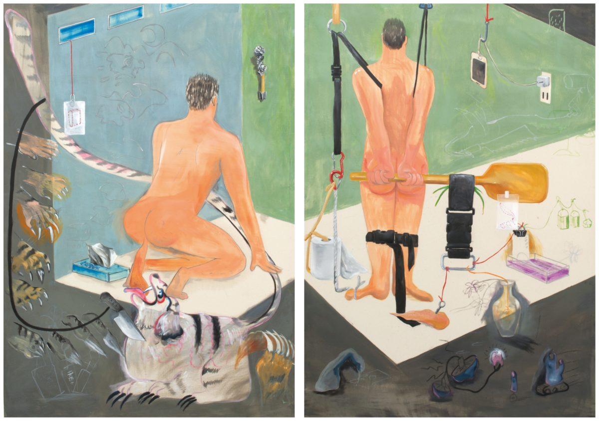 Left: Self-illusion (TIGER), Right: Self-illusion (BELT), 2017