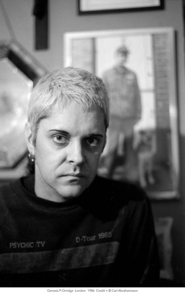 Photographic portrait of Genesis Breyer P-Orridge, by Carl Abrahamsson, 1986