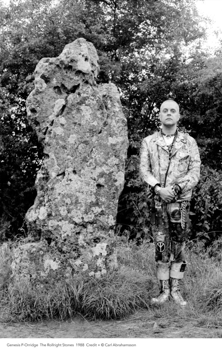 Photographic portrait of Genesis Breyer P-Orridge, by Carl Abrahamsson, 1988