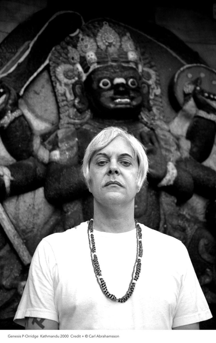 Photographic portrait of Genesis Breyer P-Orridge, by Carl Abrahamsson, 2000