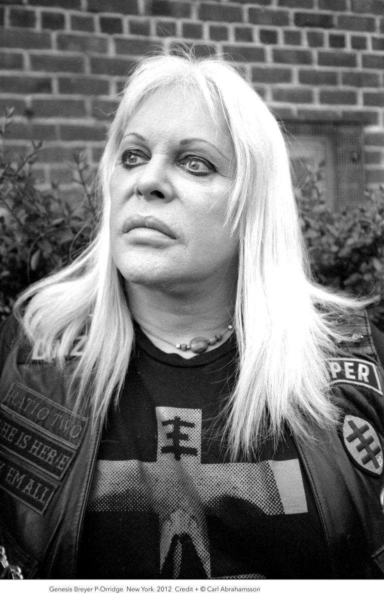 Photographic portrait of Genesis Breyer P-Orridge, by Carl Abrahamsson, 2012