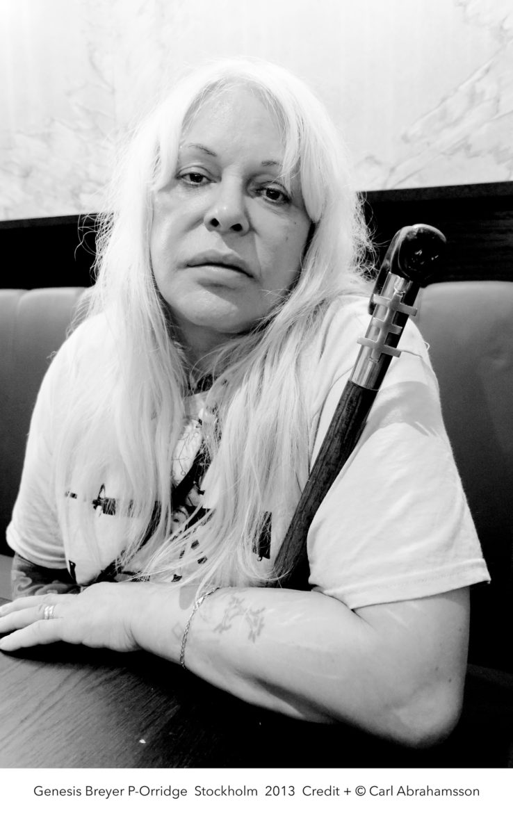 Photographic portrait of Genesis Breyer P-Orridge, by Carl Abrahamsson, 2013