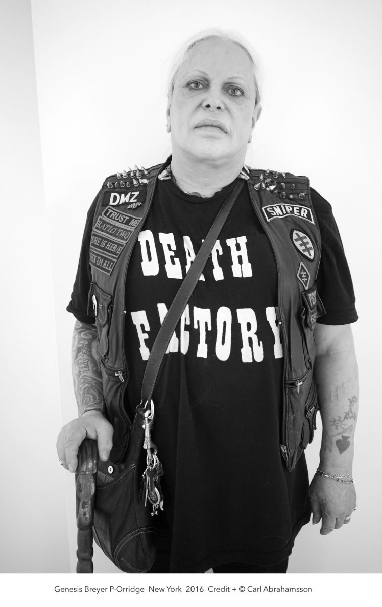 Photographic portrait of Genesis Breyer P-Orridge, by Carl Abrahamsson, 2016