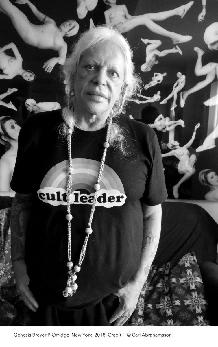 Photographic portrait of Genesis Breyer P-Orridge, by Carl Abrahamsson, 2018