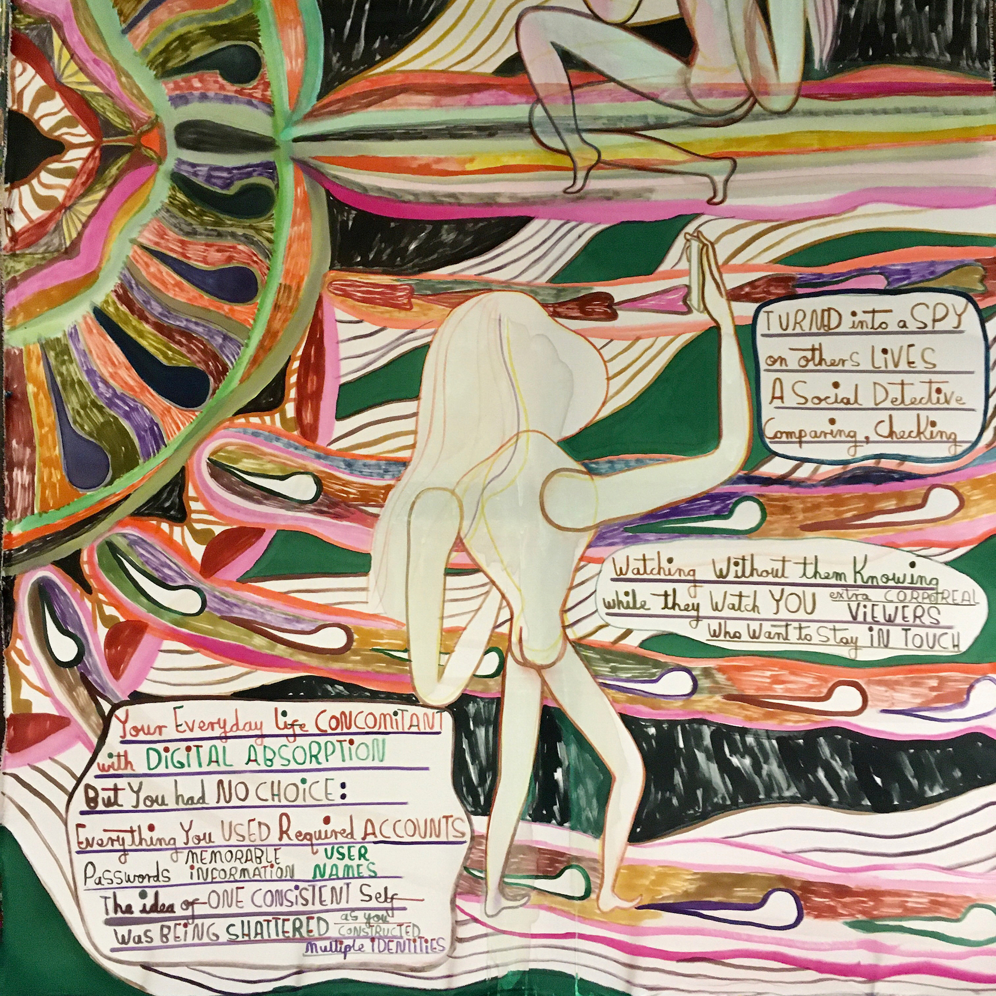Emma Talbot, When Screens Break (detail), 2020. Courtesy the artist