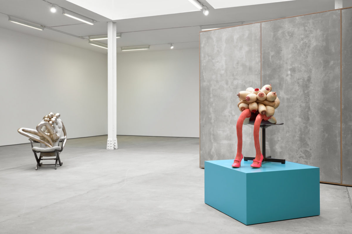 Installation view, Sarah Lucas, Honey Pie, Sadie Coles HQ London