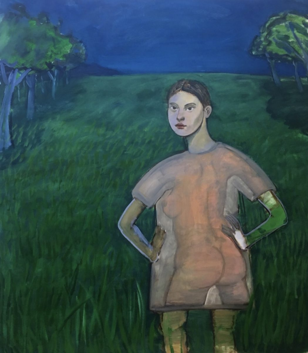 Bambou Gili, Untitled (girl in field), 2019.  Image courtesy of the artist and Arsenal Contemporary Art, New York