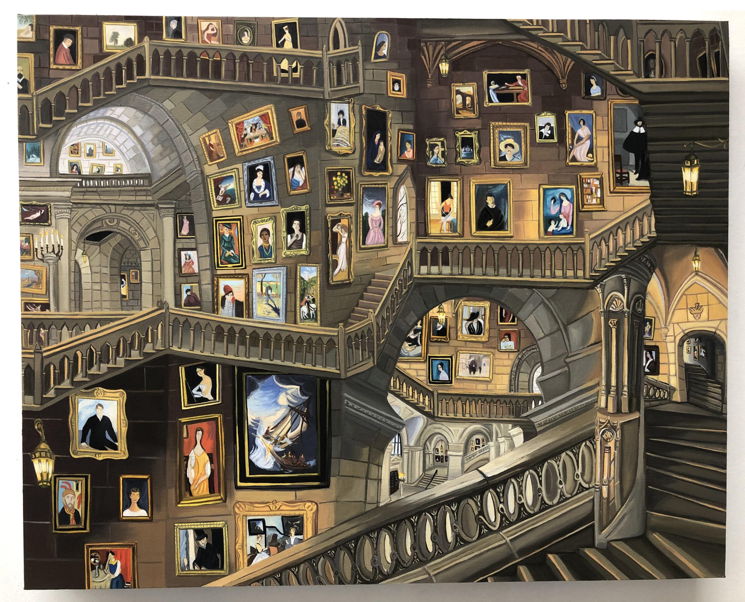 Gretchen Scherer The Missing Works, Interior, 2020